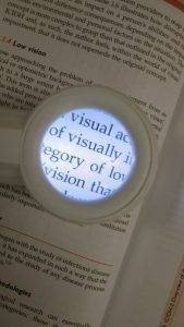 low vision reading magnifier